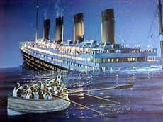 titanic from lifeboat