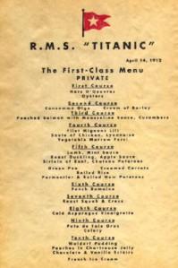 Titanic dinner