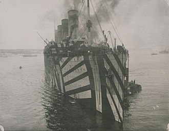 Olympic in dazzle wwI